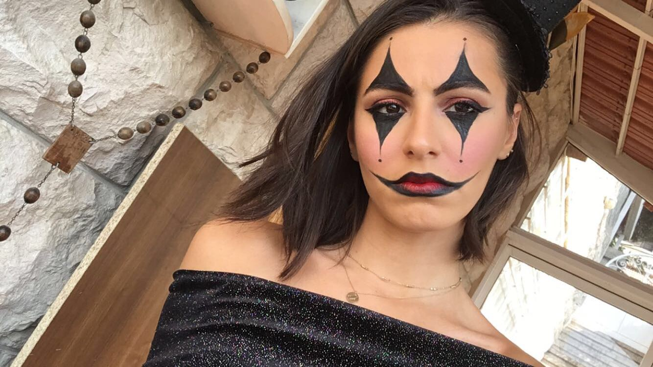 Clown Halloween Makeup Look , Mademoiselle O\u0027Lantern