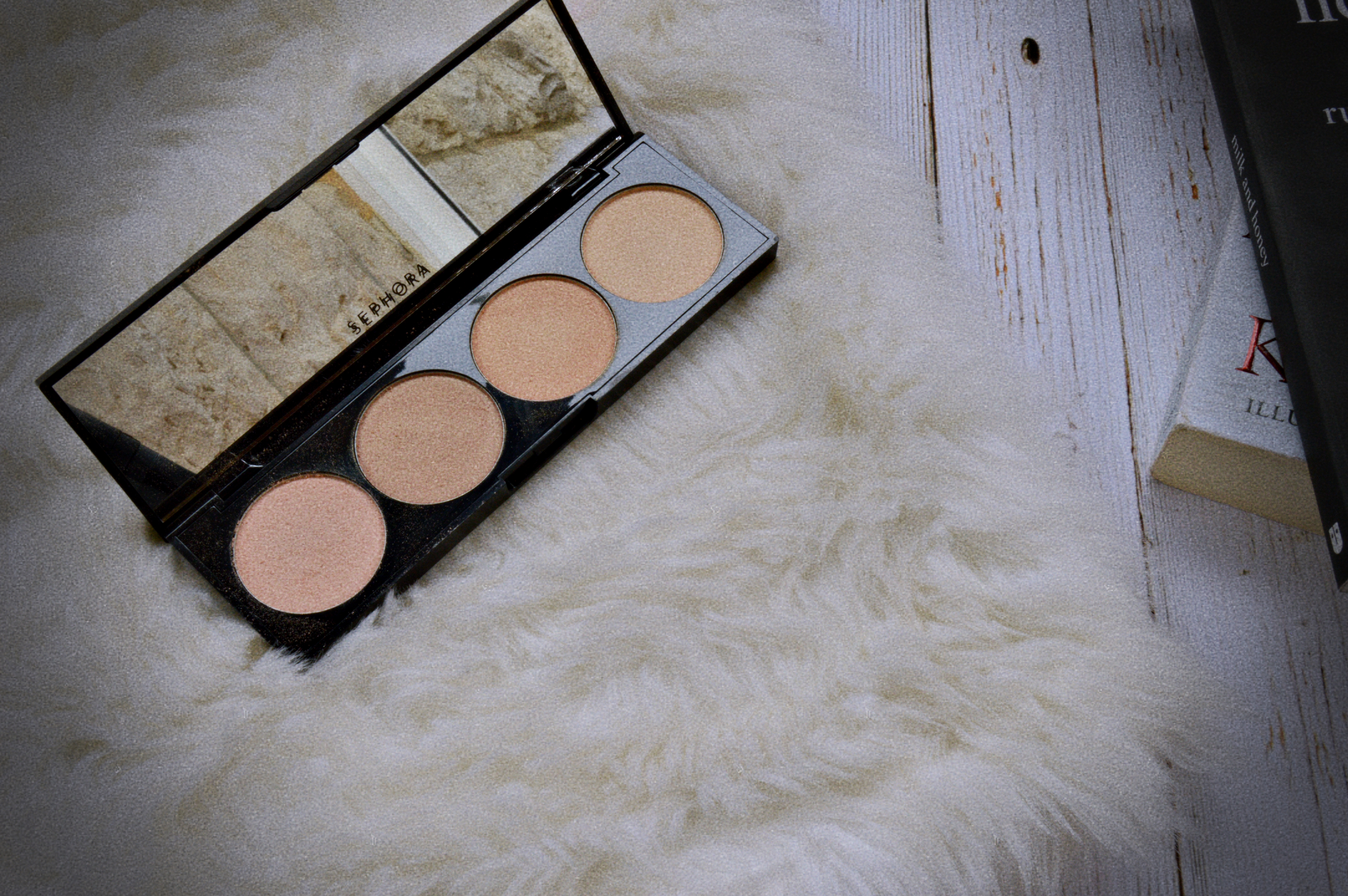 a11b4dacbb5 So each palette comes with four shades  the blush palette comes with four  shimmery blush shades and one contour shade. The strobing palette comes  with four ...