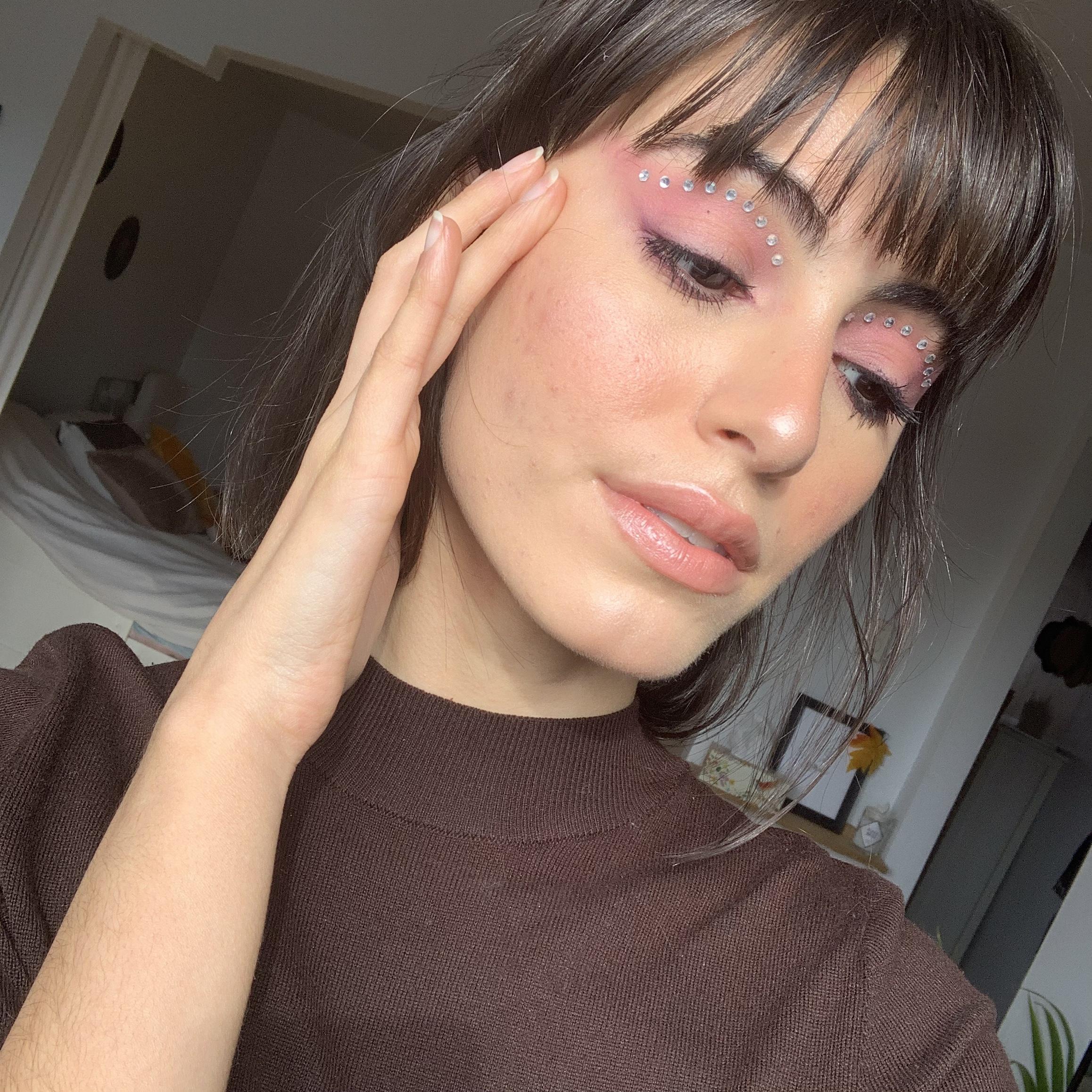 soft purple eye makeup + gemstones 5.jpg